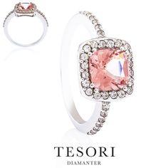 Ole Rosa - Vakker diamantring med Morganitt