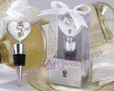 Key To My Heart-Chrome Bottle Stopper Wedding Decoration WJ057
