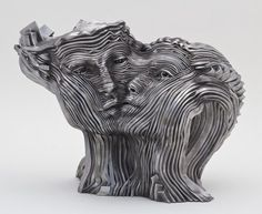 Gil Bruvel a Texas based artist, is the creator of these remarkable stainless steel sculptures. Though I'm not sure exactly how these are ma...