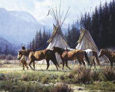 Native American Fantasy Art | Native American Art by Martin Grelle - Desktop Wallpaper