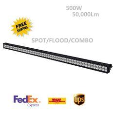 """50"""" 500W LED WORK LIGHT BAR OFF-ROAD  DRIVING BOAT ATV UTE LAMP Combo/Flood/Spot"""