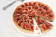 Fig, Lemon, Coconut and Chocolate Tart  -- Bake with Polaner Strawberry or Raspberry Preserves - Polaner provides delicious possibilities, ripe for the picking. polanerallfruit.com #bakedgoods #sweet #pies