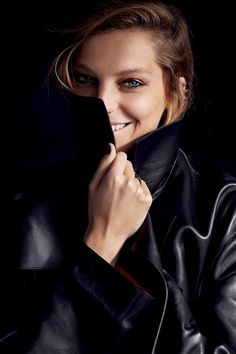 daria werbowy cass bird8 Daria Werbowy Models Leather Fashions for Cass Bird in LExpress Styles