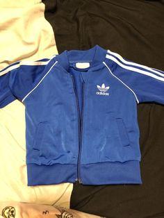 Adidas Baby Boy Jacket And Pants Set Tracksuit- Blue 3-6 Months  fashion 138d9e596da