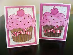 cute cupcake birthday card idea!