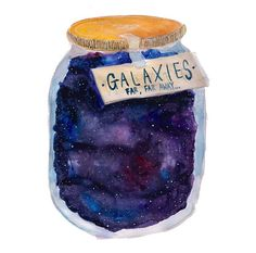 Jar of Stars. Imagine being able to choose from a shelf of jars. Each jar will take you to someplace different. Different world, different time, different universe. Is choose the right jar. Transparents Tumblr, Illustration Arte, Watercolor Illustration, You Are My Moon, Galaxy Jar, Hr Giger, E Mc2, Watercolor Art, Simple Watercolor