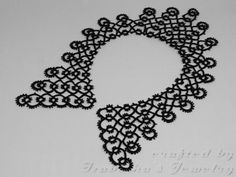 Lace tatted collar IV  made to ORDER by IzabelkasJewelry on Etsy, $35.00