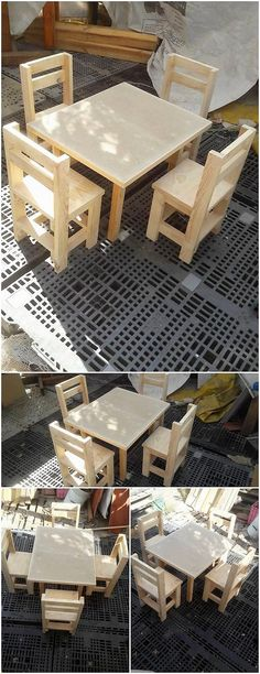 If your house is included with the large space of the garden then you can favor to make it add up with the effects of the pallet dining set as well. In this dining set you can perfectly add up with the effects of the center table as well that will look so unique and creative. Add it with the pairing of chairs.