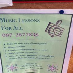 Music lessons for all Tin Whistle, Music Lessons, Saxophone, Flute, Teacher, Bullet Journal, Education, Learning, Professor