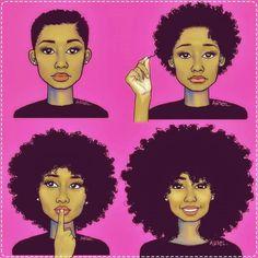 Sou fã de tudo que envolva o assunto 'cabelo natural' ou para quem preferir 'black power' e como sou louca por tirinhas também, separei as 7 tirinhas que mais me identifique…