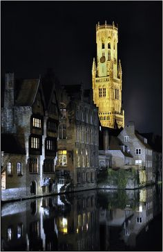 Bruges (Belgium) by night: one of the most beautiful cites I've seen. Places Around The World, Oh The Places You'll Go, Places To Travel, Places To Visit, Around The Worlds, Travel Destinations, Wonderful Places, Great Places, Beautiful Places