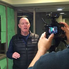 Interviewing Kevin Ryan, Covenant House President and CEO. That's Joris behind the camera. He got to go home, too!