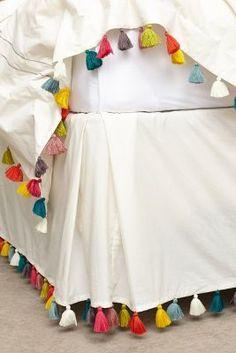 Anthropologie Lindi Fringe Bedskirt #anthrofave #anthropologie