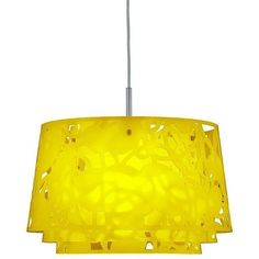 Lemon Yellow Collage 600 Pendant Suspension Light For Louis Poulsen,... (£885) ❤ liked on Polyvore featuring home, lighting, ceiling lights, chandeliers, yellow, acrylic light, yellow lights, incandescent light, yellow chandelier and yellow light
