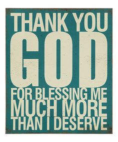 Loving this 'Thank You God' Wall Plaque on #zulily! #zulilyfinds
