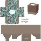 Gift box template — Vetorial Stock