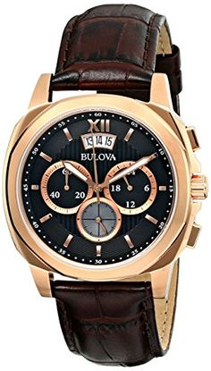 Bulova Mens Classic Analog Display Japanese Quartz Brown Watch * Click photo to assess even more details. (This is an affiliate link). Bulova Mens Watches, Watches For Men, Wrist Watches, Men's Watches, Brand Name Watches, Watch Sale, Leather Men, Brown Leather, Quartz Watch