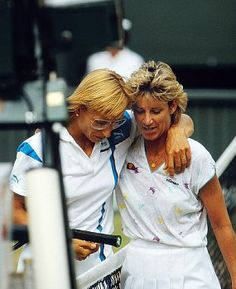 With Martina Navratilova after the 1987 semi final at Wimbledon
