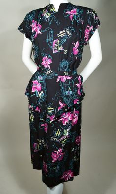 DARLING 1940's VINTAGE DATE NIGHT DRESS available for sale at rpvintage.com