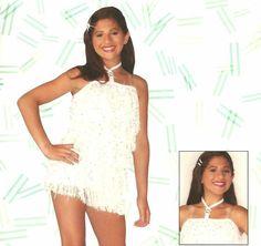 NINE White Sequin Flapper Dress Christmas Dance Costume Child L & Adult XL NEW #Leos