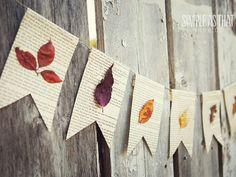 Book + Leaf Garland  - CountryLiving.com