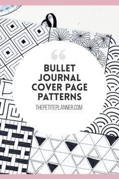 Looking for aesthetically pleasing bullet journal cover page ideas? Try one of these to make next month stand out. Easy to draw and doodle patterns!