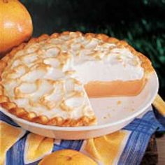 Grapefruit Meringue Pie-There's a lot of grapefruit trees in Florida, so I like to use fresh grapefruit juice when I make this pie. I just love the unique citrus flavor of this dessert