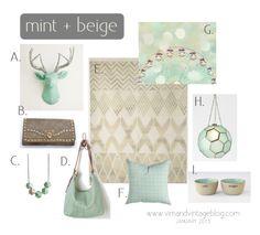 mint & beige inspiration board