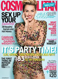 Miley Cyrus on the cover of Cosmopolitan Dec. 2013.....literally so gorgeous