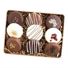 Gifts by Occasion: For Her Birthday-Entertain & Celebrate-Ideas & Tips-Inspiration | World Market Chocolate Bar Cakes, Chocolate Covered Oreos, Chocolate Covered Strawberries, White Chocolate, Gourmet Cookies, Gourmet Gifts, Dessert Boxes, Dessert Ideas, Alphabet Cake