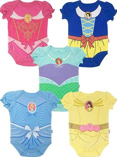 Disney Princess Baby Girls' 5 Pack Bodysuits Belle Cinderella Snow White Aurora is Awesome pack of 5 Disney princess costume design that includes Little Mermaid, Belle from Beauty and the Beast, Snow White, Sleeping Beauty and Cinderella So Cute Baby, Cute Baby Clothes, Cute Babies, Disney Baby Clothes Girl, Disney Baby Onesies, Babies Stuff, Disney Babys, Disney Princess Babies, Baby Girl Princess
