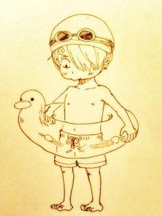 Sanji #one piece Omg!!! So cute!