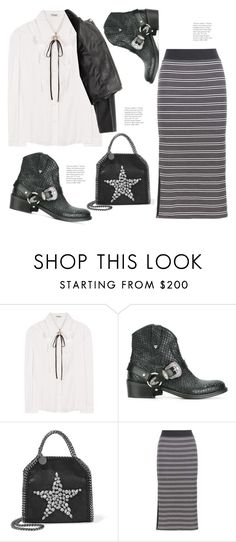 """""""Modern Cowgirl (Top Set Dec 4 2016 Thanx PV 😘)"""" by hattie4palmerstone ❤ liked on Polyvore featuring Miu Miu, Hollywood Trading Company, STELLA McCARTNEY, ATM by Anthony Thomas Melillo, Acne Studios and modern"""