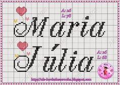 nome maria julia em ponto cruz - Pesquisa Google