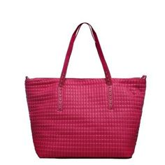 Red PU Quilted Totes Bag