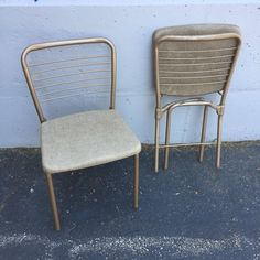 Vintage Cosco 1950s Metal Table and Chairs by