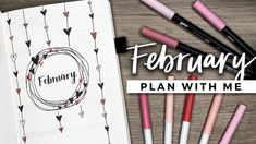 PLAN WITH ME   February 2018 Bullet Journal Setup