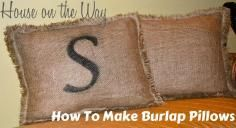 DIY Burlap Crafts - Bead&Cord