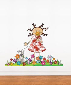 Take a look at this Lou & Flowers Wall Decal on zulily today!