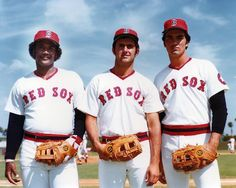 Jim Rice, Fred Lynn and Dwight Evans