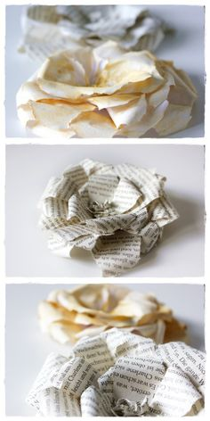 Rosen aus Buchseiten / Roses made from book pages / Upcycling