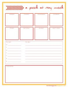 Free Printable Weekly Schedule Planner/page/2 | Search Results ...