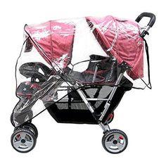 Aligle Weather Shield Double Popular for Swivel Wheel Stroller Universal Size Baby Rain Cover/Wind Shield Deal (Black) Twin Strollers, Double Strollers, Twin Babies, Little Babies, Best Baby Prams, Twin Pram, Baby Buggy, Jogging Stroller, Baby Cover