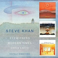 Okdoke; Nik Bärtsch's Continuum review submitted; next up, hopefully this weekend: the BGO reissue of Steve Khan's three Eyewitness albums (Eyewitness, Modern Times, Casa Loco) on two CDs. Totally paradigm-shifting music from a guitarist who is all-too-often overlooked, despite a career's worth of tremendous solo albums and appearances with other artists.