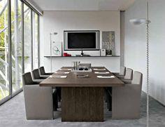 5 ruang rapat minimalis brown