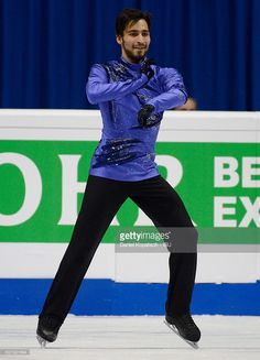 Ivan Righini of Italy performs during the Men Free Skating on day two during the ISU European Figure Skating Championships 2016 on January 28, 2016 in Bratislava, Slovakia.