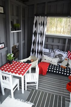 15 best Wooden Playhouse in Uk for 2017 Playhouse Decor, Playhouse Interior, Outside Playhouse, Shed Interior, Backyard Playhouse, Build A Playhouse, Wooden Playhouse, Interior Design, Kids Cubby Houses