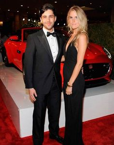 Josh Peck and Paige O'Brien at the Jaguar event in Beverly Hills in October 2014...