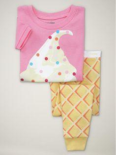Gap ice cream pajamas