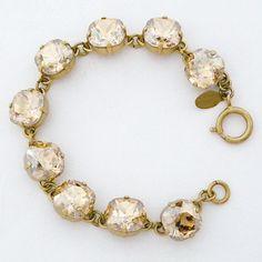 La Vie Parisienne Jewelry | Champagne Chunky Crystal Bracelet
